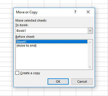 Copy an Excel Spreadsheet